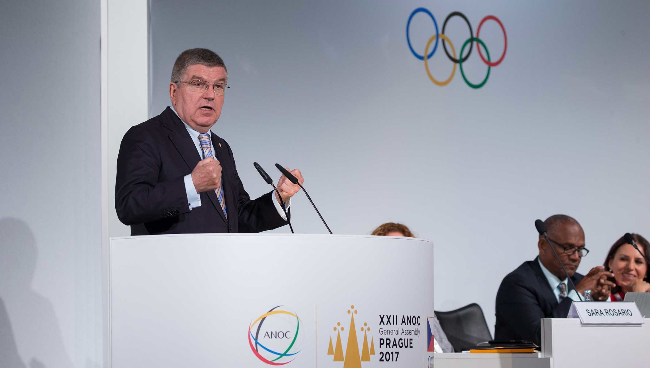 IOC PRESIDENT ADDRESSES ANOC GENERAL ASSEMBLY ABOUT CHALLENGES AND OPPORTUNITIES FACING THE OLYMPIC MOVEMENT