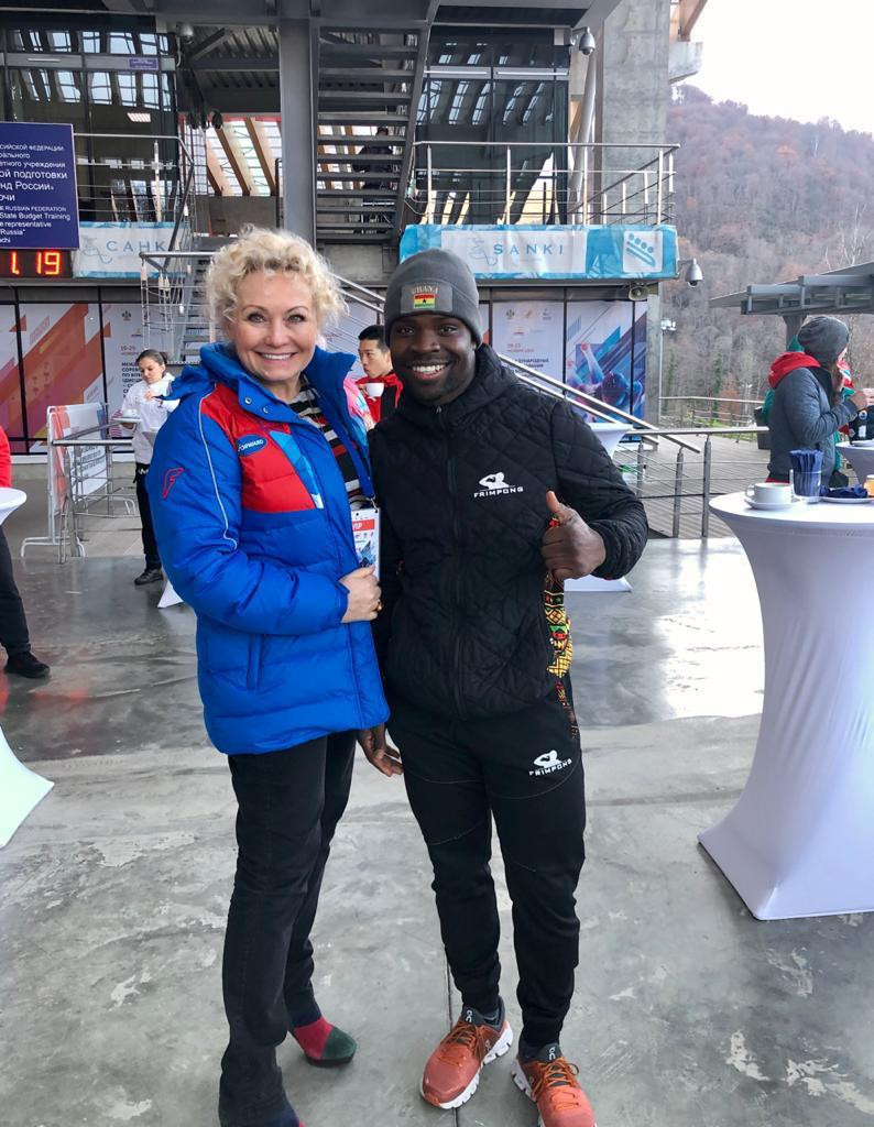 Ghanaian Frimpong arrives in Sochi to train with Russian skeleton team with eye on Beijing 2022