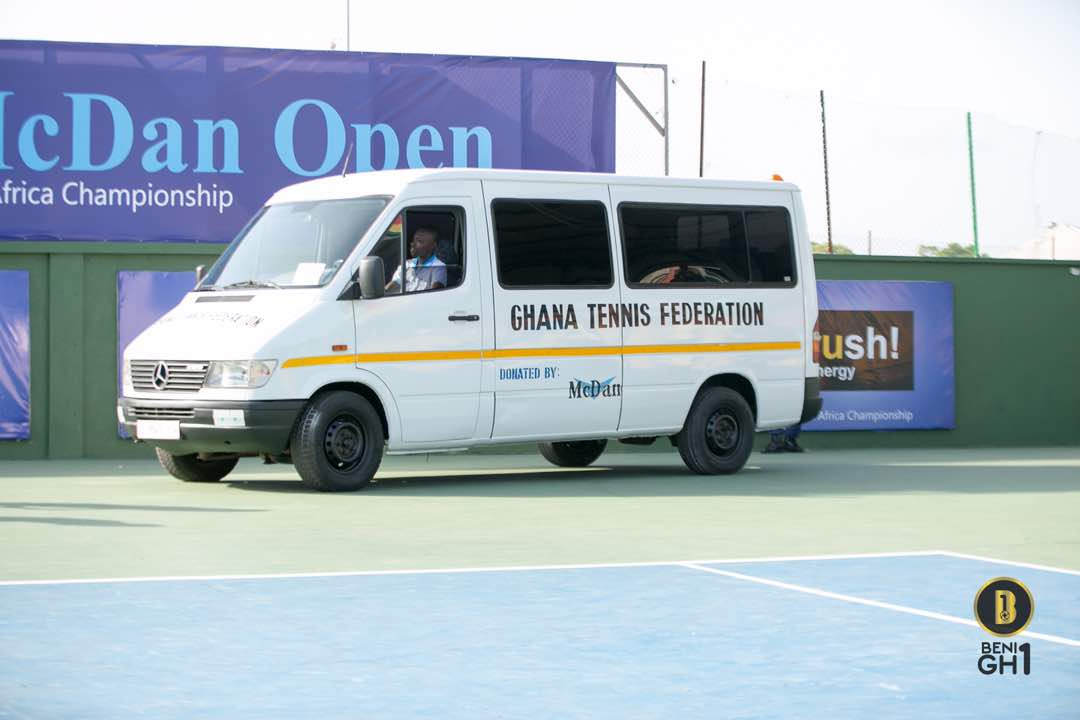 Ghana Tennis Federation gets a mini bus from McDan