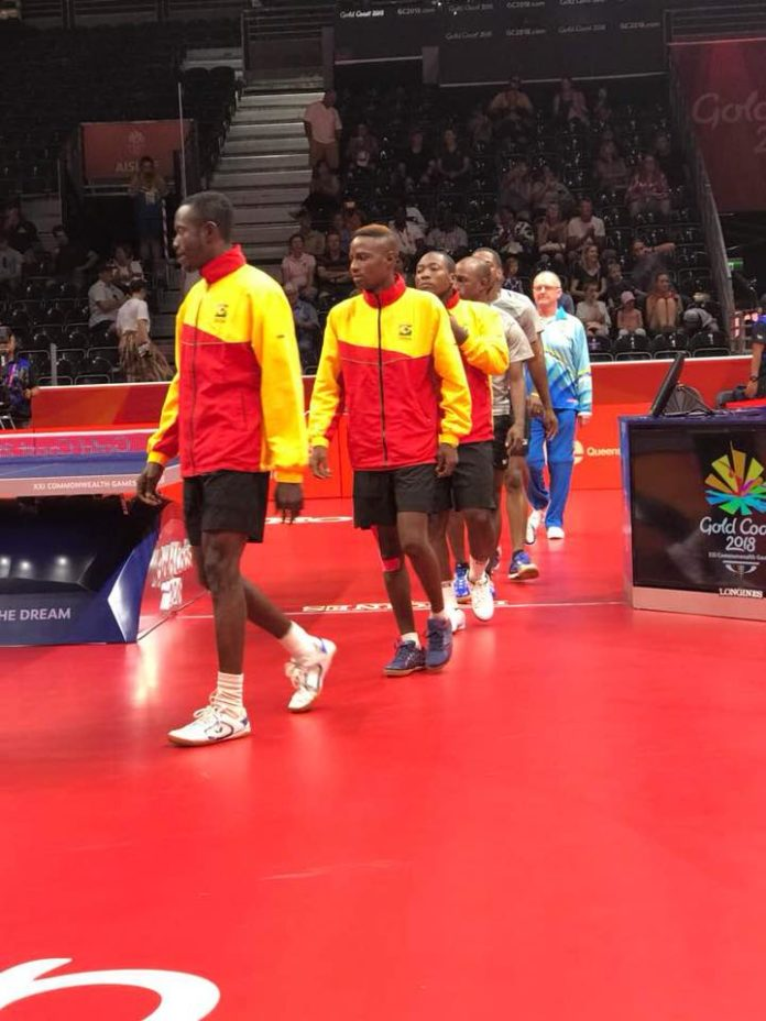 Ghana Crash Out In Men's Table Tennis Doubles @ GC2018