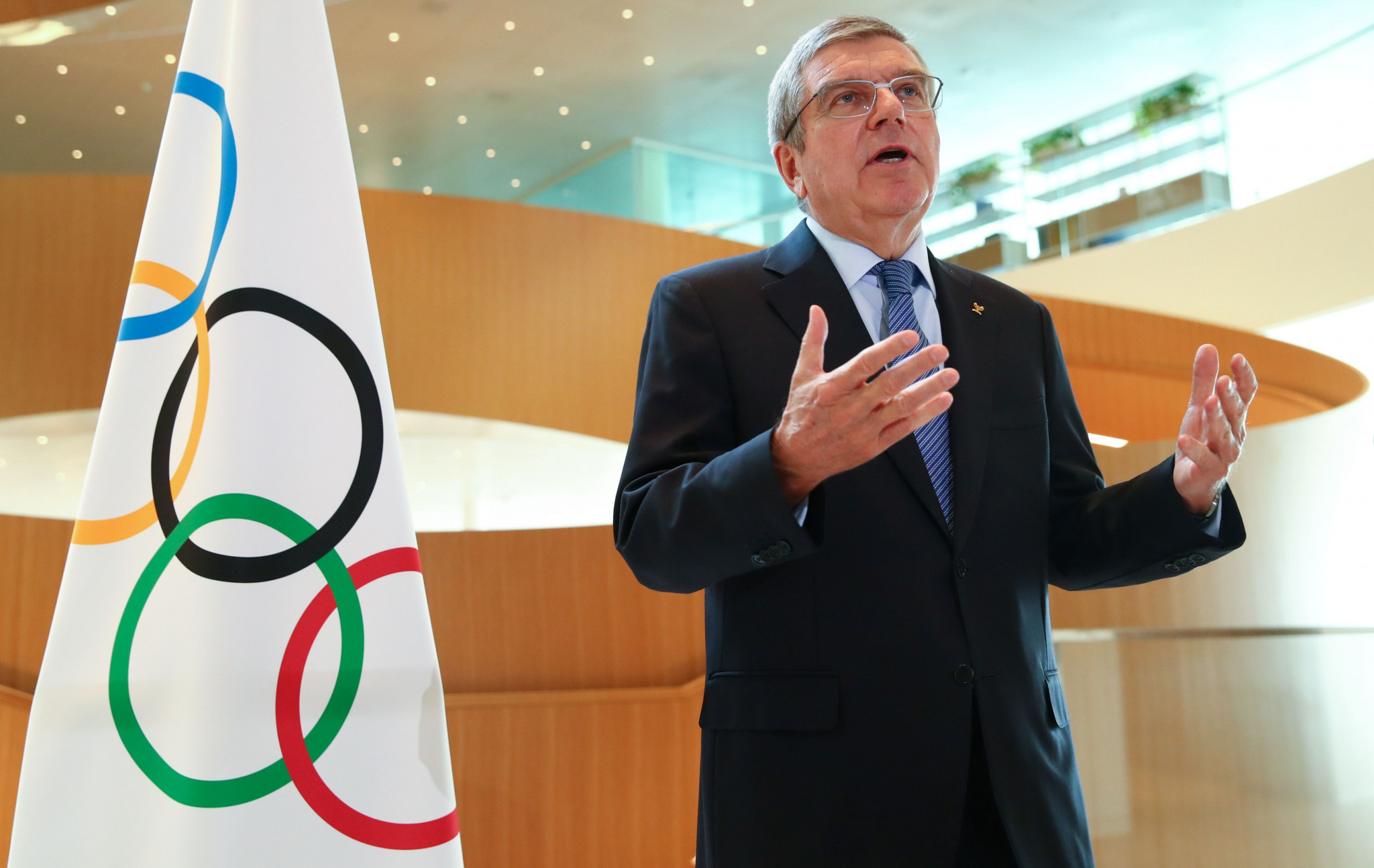 Bach says phased return of sport a cause for