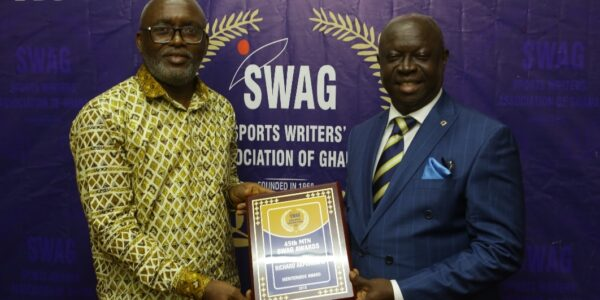 45th MTN SWAG Awards - GOC Secretary General Richard Akpokavie receives meritorious award