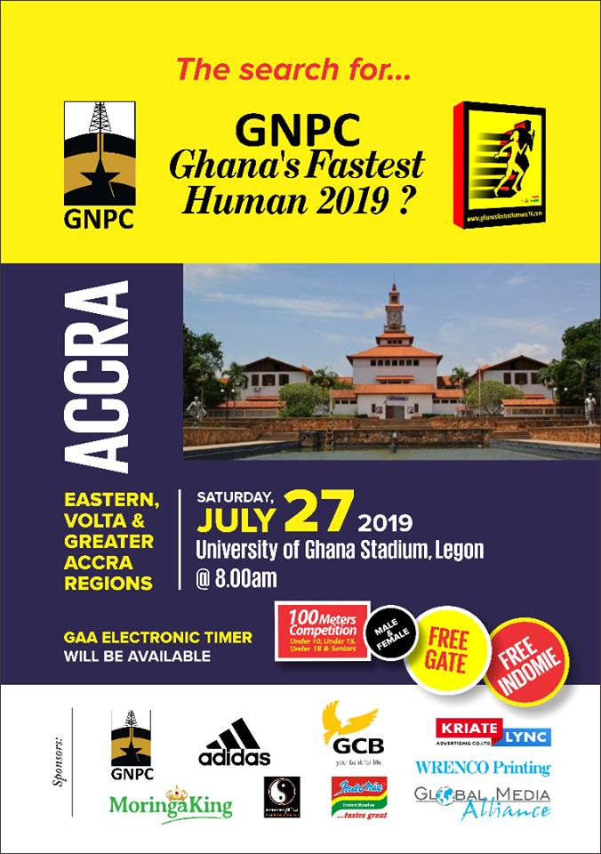Legon To Host GNPC Ghana Fastest Human 2019 -Accra Open