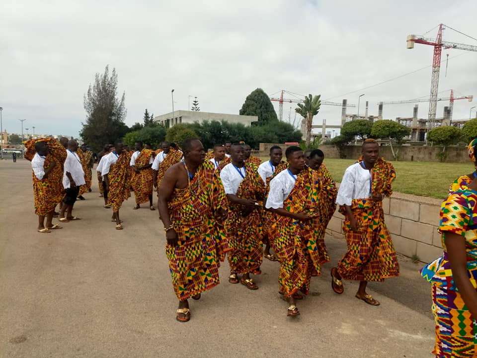 Team Ghana Displays Colourful Kente At AG