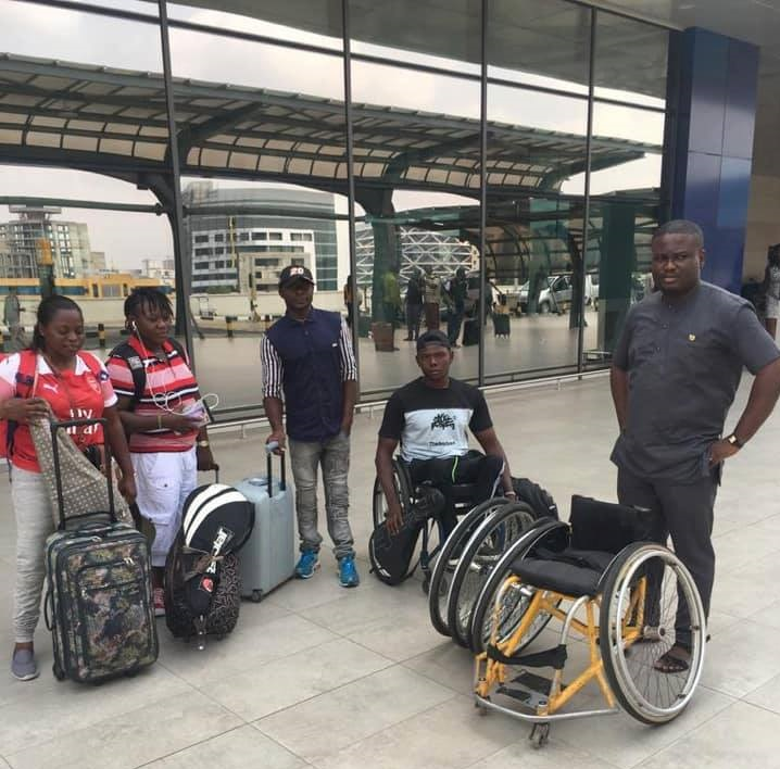Two Ghanaian Wheelchair Tennis players and Coach Set leave Accra for South Africa