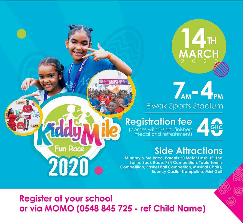 Children Gear Up For 2020 Accra Kiddy Mile Races (MINI OLYMPICS) On March 14