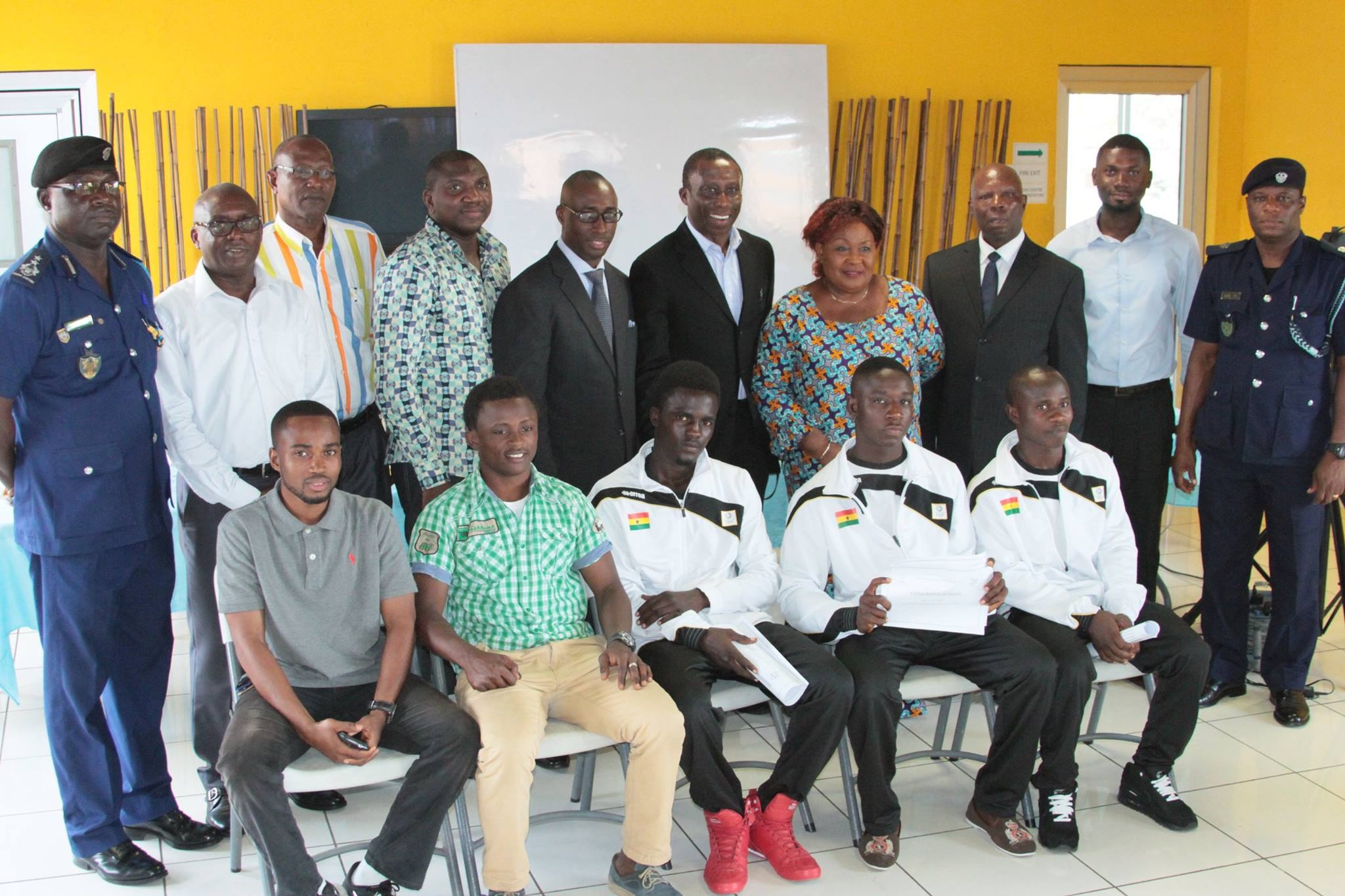 A Group picture of Scholarship recipients GOC officials and some National Federation Presidents