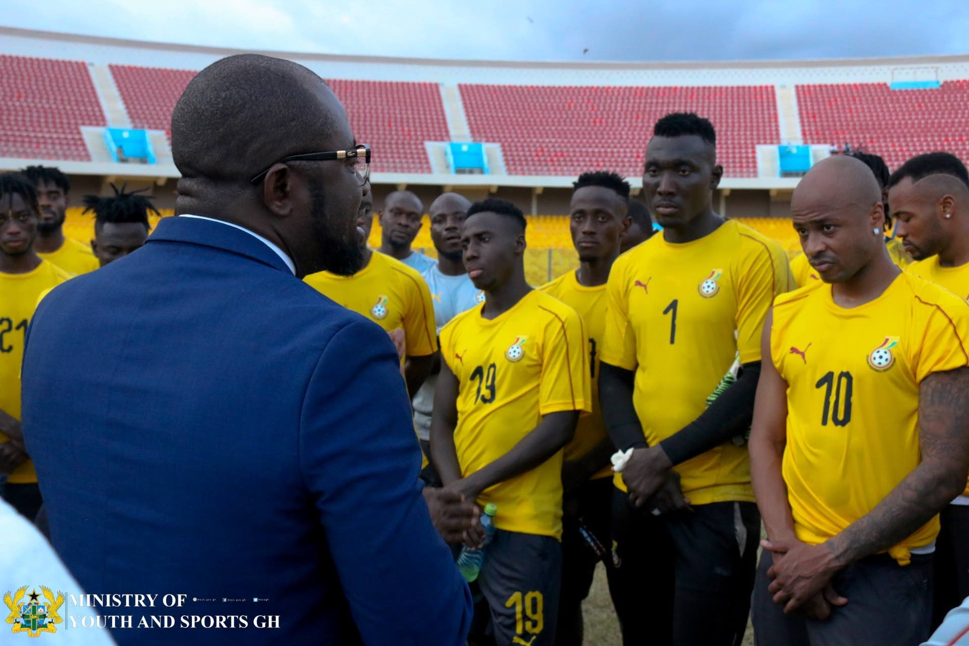 GFA Boss Kurt Okraku meets New Look Black Stars