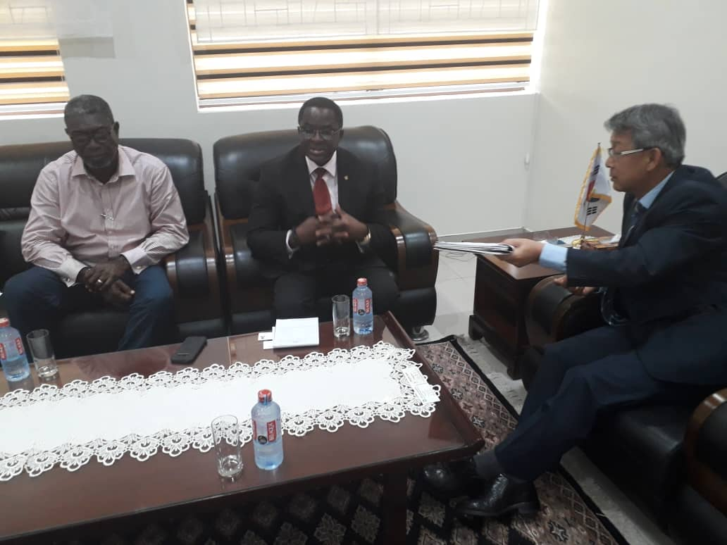 GOC President And Tokyo 2020 Chef Du Mission Mike Aggrey Call On Korean Ambassador