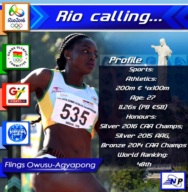 Profile sprinter Flings Owusu-Agyapong