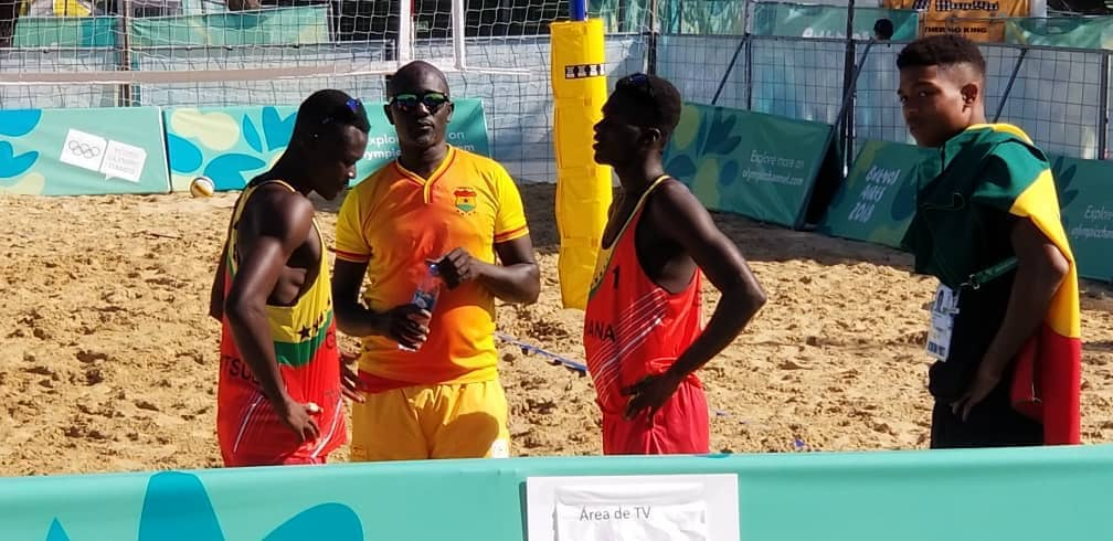 Ghana beats Monaco in Beach Volleyball