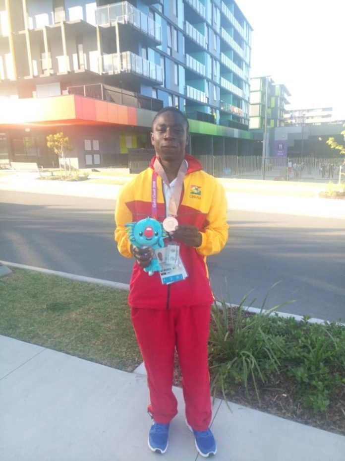 Boxer Jessie Lartey Gets One Bronze Medal At The 2018 Commonwealth Games For Ghana