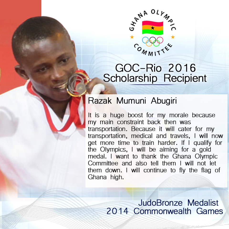 Razak Abugiri talks All African Games & Rio Scholarship benefits
