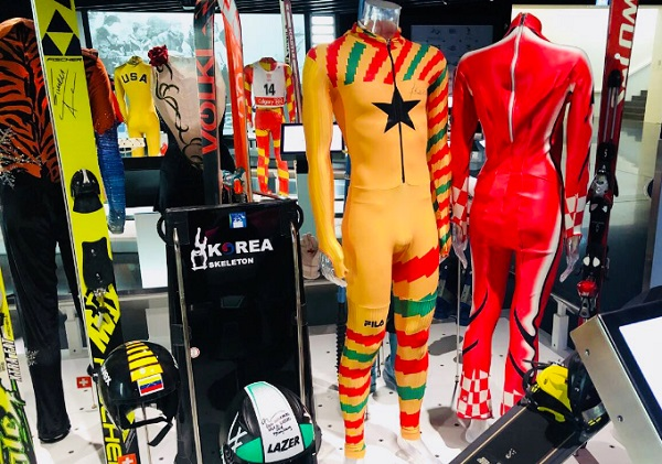 Akwasi Frimpong's race suit goes on exhibition at the Olympic Museum
