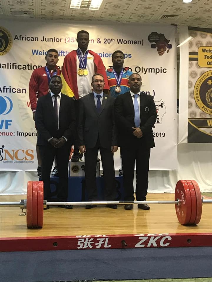 Christian Amoah Wins Three Gold Medals At African Junior Weightlifting Championship In Uganda