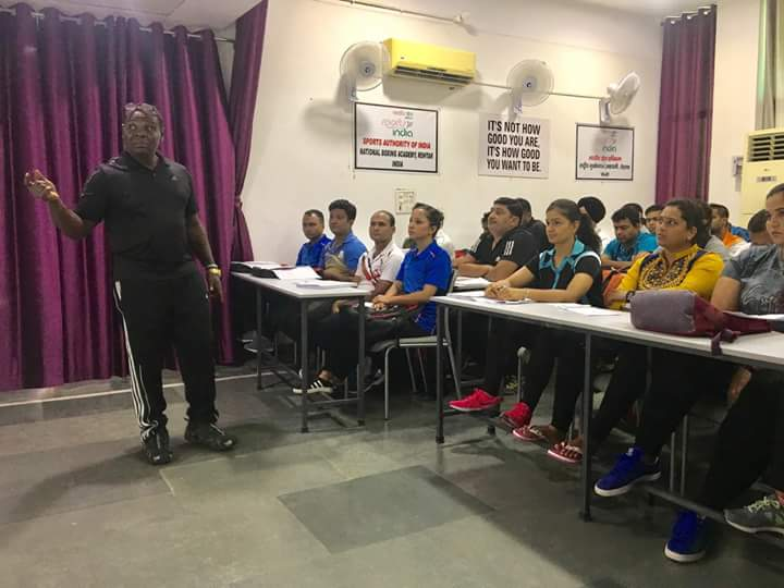 Boxing Coach Asare Trains Indian Coaches