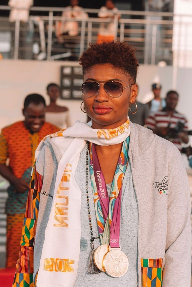 WNBA Basketball Player Olympian Angel McCoughtry lands in Ghana For Year of Return Festivities