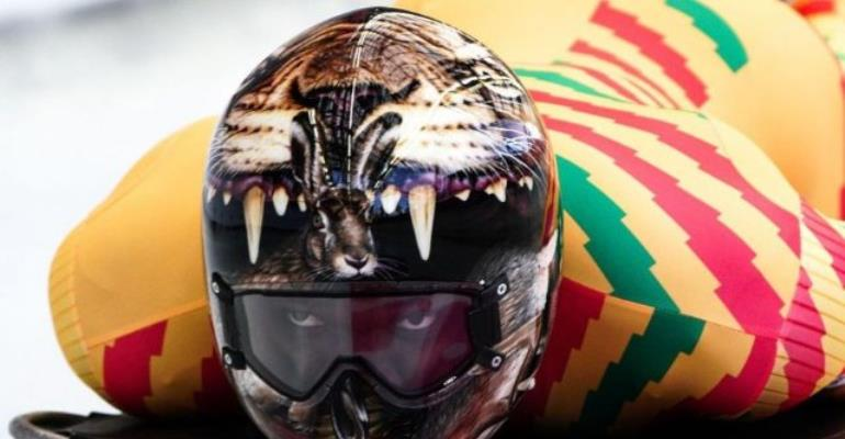 Frimpong Has 'Best Helmet' At The Winter Olympics