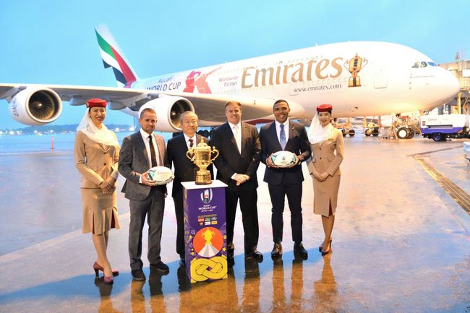 The Webb Ellis Cup Arrives In Japan  Ahead Of Rugby World Cup 2019