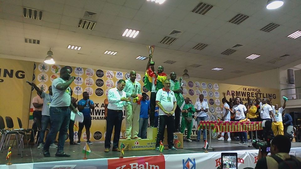 Golden Arms Host And Win African Armwrestling Championship - Accra 2018