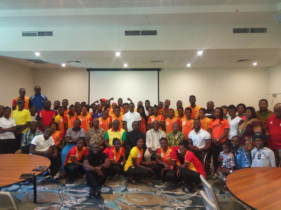 Ghana is on the move – Ghana High Commissioner to Australia Nii Adjei motivates athletes in Brisbane