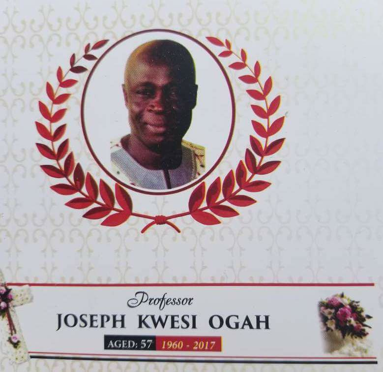 GOC Mourns Executive Board Member, late Professor Joseph Kwesi Ogah