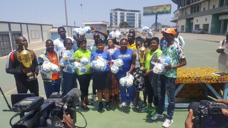 NSA Boss Presents Cups To Greater Accra Handball Champions