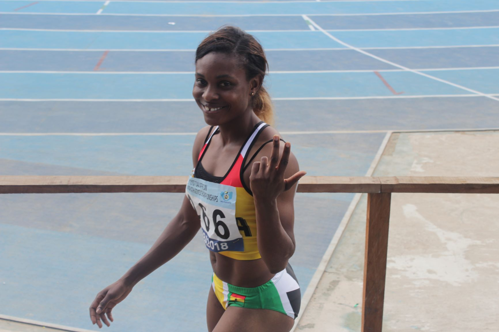 Janet Amponsah and Hor Halutie make women's 100m final at Asaba 2018