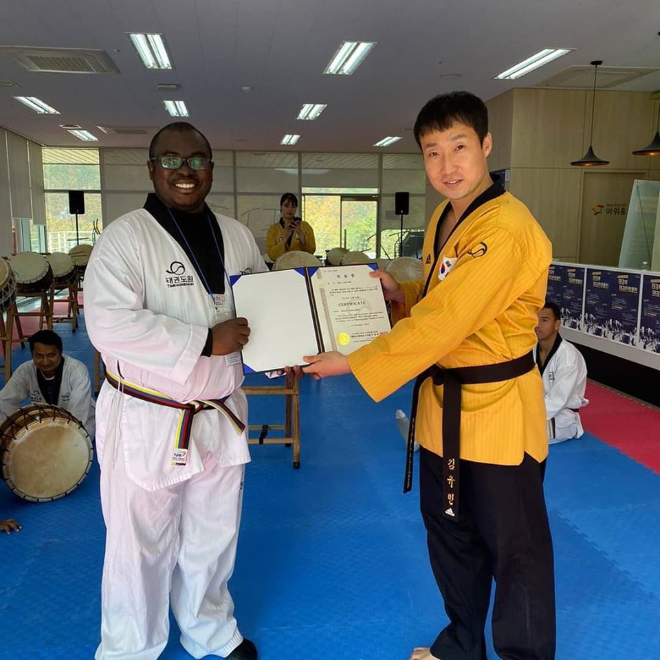 GOC Press Officer Completes Course In Taekwondo