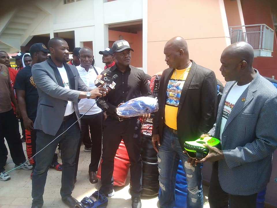 Lawrence Nyanyo Nmai Donates Sports Equipment To NSA, GKBA And PFF