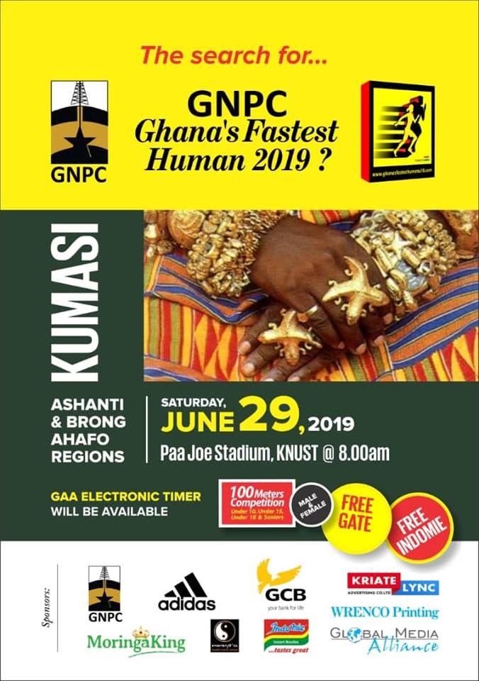 GNPC Ghana Fastest Human 2019 Hits Kumasi, June 29 At KNUST
