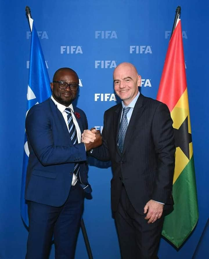 GFA President confers with FIFA President in Switzerland