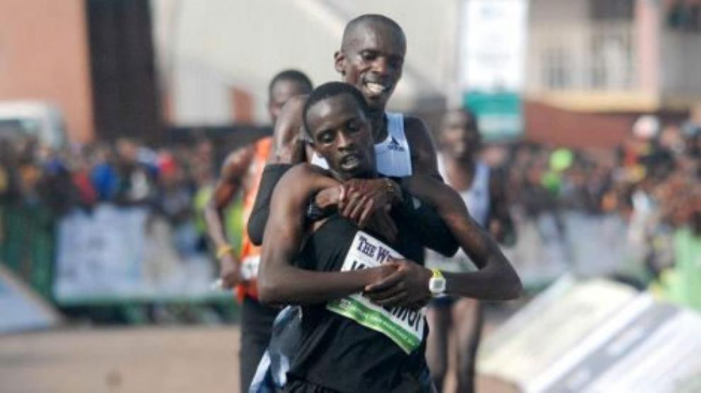 Kenyan Runner Gives Up On Winning Race To Salvage Collapsing