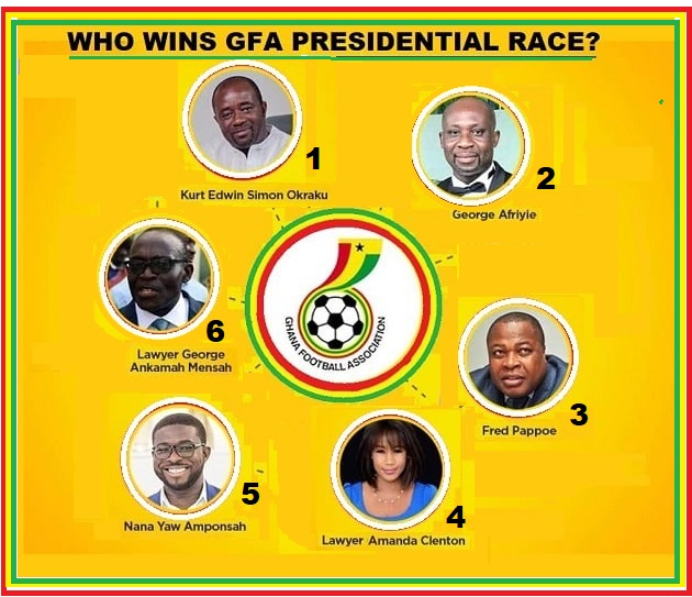Mybet.africa places competitive odds on 6 aspirants for GFA Presidency… Who Do You Place Your Bet On?