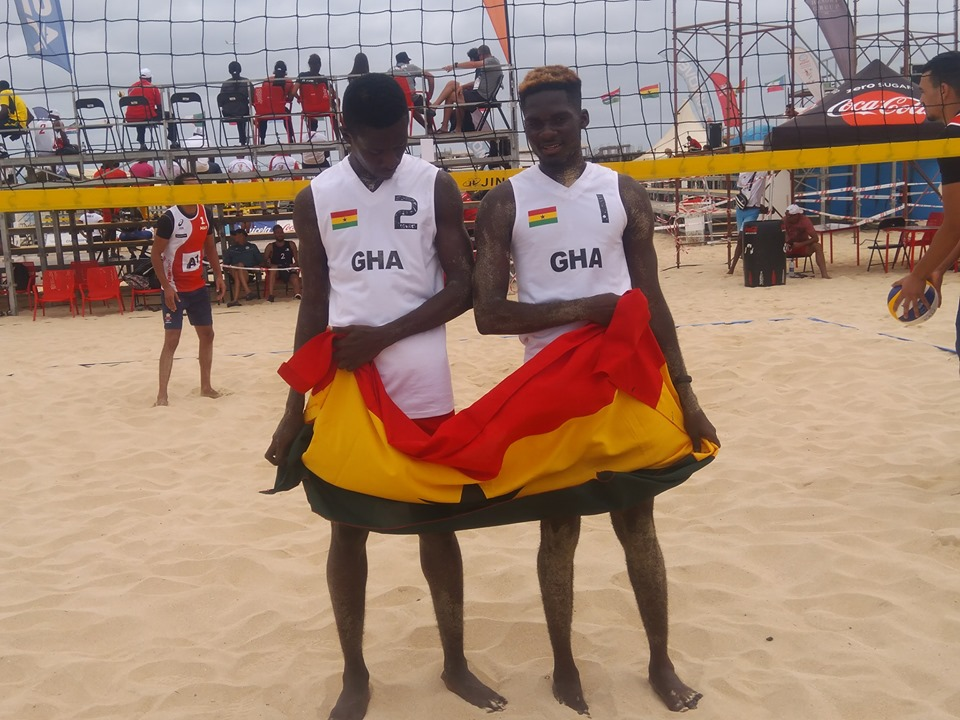 Ghana Beach Volleyball Star CarbooThanks SWAG